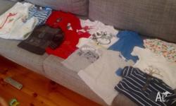 Selection Size 0 (6-12m) boys - 16 items (6 new) - Fred