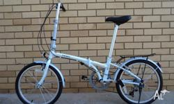 Sell new white folding bicycle/100% new condition in