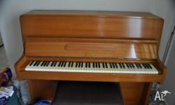 Leider Upright Piano with Stool. In very good
