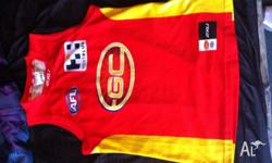 Selling Gold Coast suns jersey only wonrn once payed