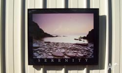 Serenity Picture Solid metal frame Size 51 x 41 cm Good