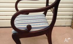 Set of 5 Regency style quality crafted chairs in very