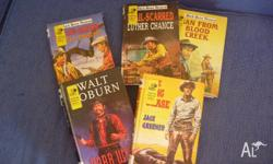 Up for sale is this set of Western novels (Hardcover).