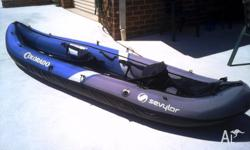 This kayak is in as new condition used twice, it has 2