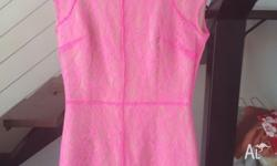 Brand new (without tags) size 6 neon pink dress..