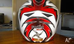 shark motor cycle helmet, very good condition has one