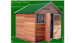 Kallista Cedar Shed 2.5wx2.4dx2.65h Cottage Green Roof
