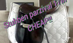 FOR SALE Stubben Parzival show saddle 17 inch, medium