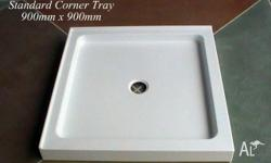 Shower Tray Fibreglass 900mm x900mm. Features include
