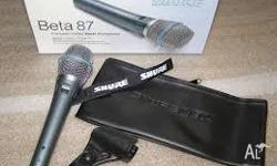 For sale a brand new in the box Shure Beta87a