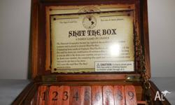 SHUT THE BOX GAME - NATIONAL GEOGRAPHIC NEW UNWANTED