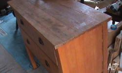 tassie oak old storage drawers... two drawers probably