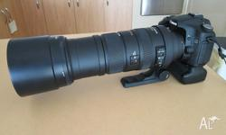 For sale is my Sigma 150-500mm lens for a Canon DSLR