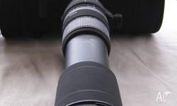 Sigma 86mm Lens. 170-500 F/63. APO DG Aspherical.