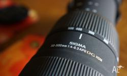 MINT CONDITION SIGMA 50-500MM/4-6.3 APO DG HSM LENS FOR