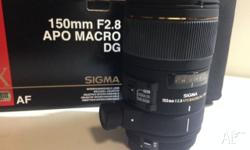 For sale is a Sigma AF 150mm f2.8 APO Macro DG HSM Lens