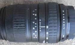 Zoom lens 100-300 mm in very good condition: suit
