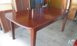 Six seater (incl carver) silky oak dining suite Age