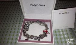 Beautiful silver Pandora Braclet , in perfect condition