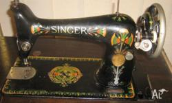 Singer Sewing Machine,1929 Serial Number Y7390613 I