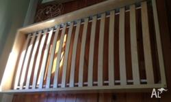 Single bed with birch frame and slats. Bought from