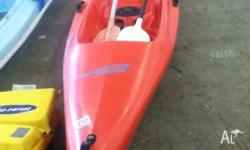 Oz paddle Crusader single person kayak. Good