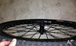 UP for sale this pair of MTB 26 wheels , front is a