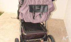 *1 Single Pram - Enigma Steelcraft, Latte in colour