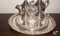 Bueatifull Stamped Antique Sir John Bennnett Tea Set