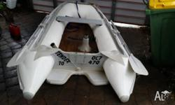 2600 inflatable great condition with timber floor