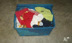 The box is mixed boys clothes all size 1, jumpers,