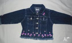Pumpkin patch Jacket denim - floral embroidery $5 Osh