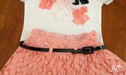 Target sista brand set Top & skirt in good condition &