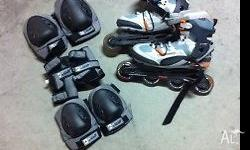 Urgent sell for a size 42 Wilson Rollerblades + guards.