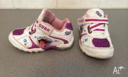 "Size 7 ""Dora the Explorer"" Purple Glitter Sneakers for"