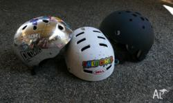 3 x skate Helmets - excellent condition Will sell