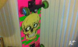 Skateboard in near new condition. Hardly used. Will