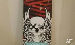 pretty good condition of skateboard deck for $10 text