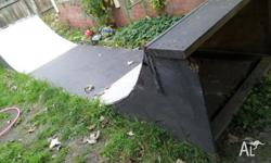 Skateboard ramp half pipe. 1m high x 120 wide. or $50