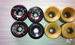One complete set of near new Powell Bones 64mm 97a One