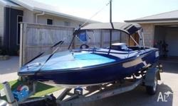 1980 Ski Craft centre mount 350 chev ski boat. Seats