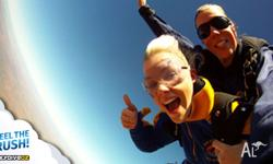 Free fall from 14000ft skydive over your hometown.