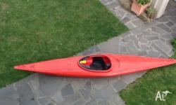 I am selling my red Perception Reflex slalom kayak.