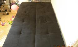 Black sleeper couch in very good condition, no stains,