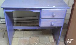 Small desk suitable for childs room or small unit, very