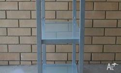 High quality, modern glass shelf unit with three