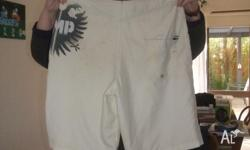 For Sale - SMP White Board Shorts - size 34. A few