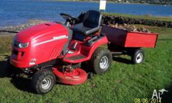 Snapper rideon mower with trailer - 23hp Briggs and