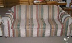 Sofa bed 3 seater and 2 matching seats good condition