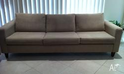 1 x 3.5 seater beige sofa (L: 2400mm x D:900mm x